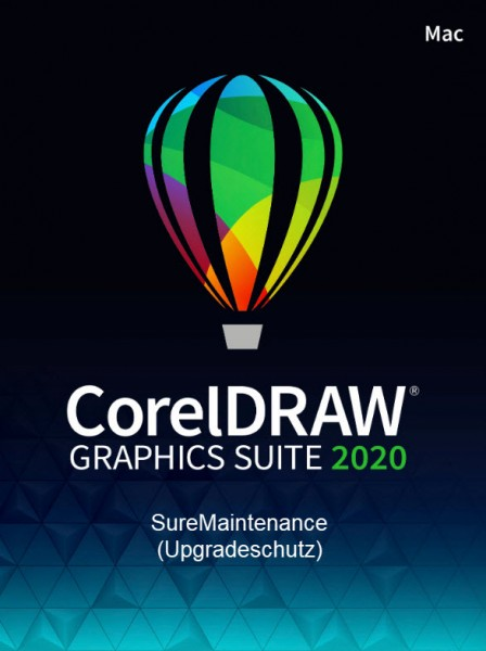 Corel DRAW Graphics Suite 2020 SureMaintenance (1 Jahr Schutz, Mac)