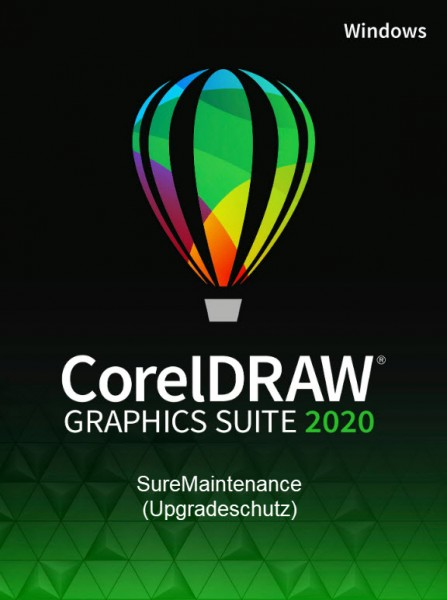 Corel DRAW Graphics Suite 2020 SureMaintenance (1 Jahr Schutz, Win)