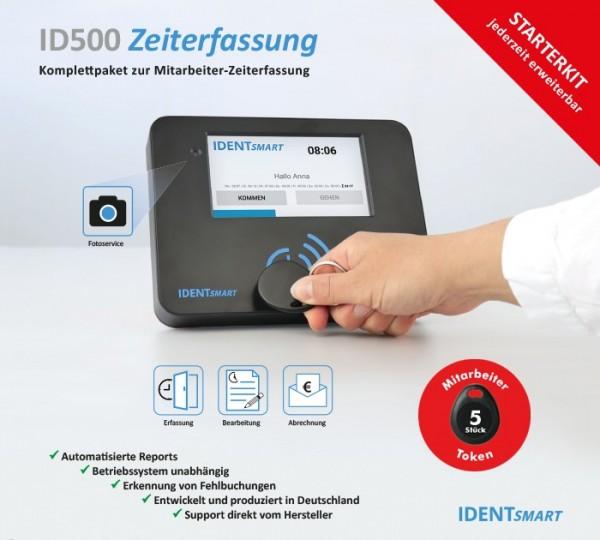 IDENTSmart Zeiterfassung ID500TR StarterKit für 15 Mitarbeiter (erweiterbar)